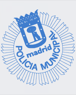 CARTERA PORTAPLACA Z300 POLICÍA MUNICIPAL MADRID